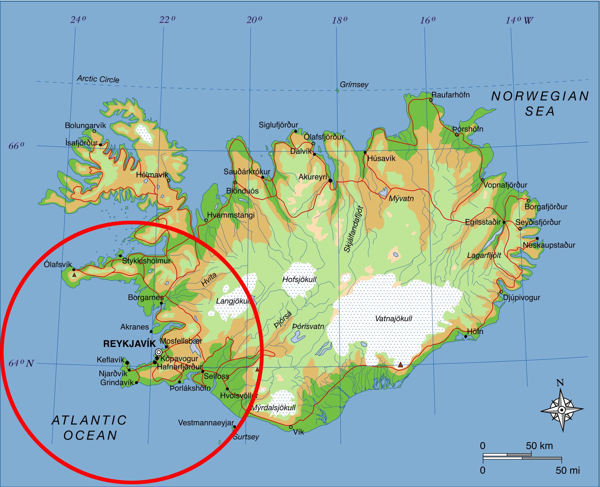 Þjónustusvæði meindýraeyðisins í Reykjavík og nágrenni